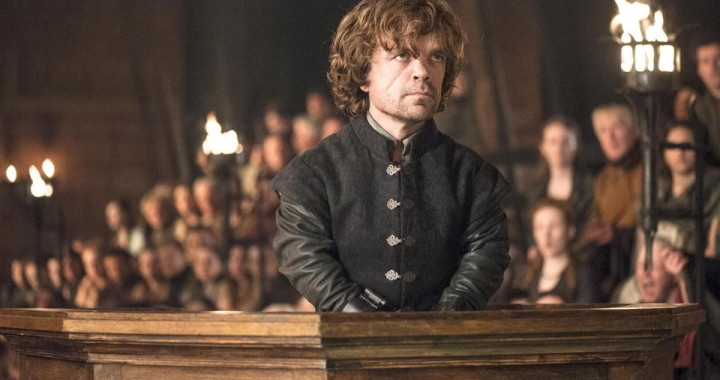 Tyrion delivers an Emmy-worthy speech before his father and Kings Landing.